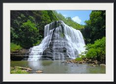 """""""Burgess Falls State Park  Tennessee"""" by Kyle Ferguson  // Imagekind.com -- Buy stunning fine art prints, framed prints and canvas prints directly from independent working artists and photographers."""