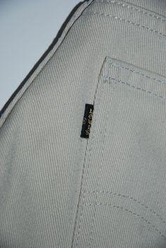 Based UK Vintage Levis Sta Prest Trousers Center Creased Pants Black Tab W29 L30