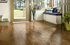 Hardwood installation services are just one of the many home improvement jobs that may see an increase as home sales fall in the Houston, TX area. The reaso Acacia Flooring, Solid Wood Flooring, Flooring Options, Flooring Ideas, Bruce Hardwood Floors, Hardwood Installation, Armstrong Flooring, Wide Plank, White Oak