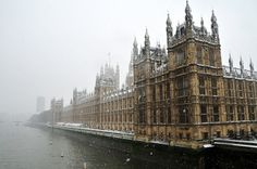 london in the snow.