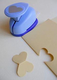 Heart punch to create butterflies....