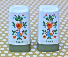 Vintage Salt Shakers by ivorybird on Etsy