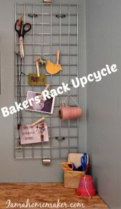 Organizing With A Bakers Rack Grid - I Am a Homemaker