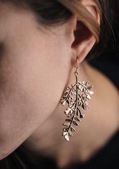 Handmade Maidenhair Fern Chandelier Earrings | CollectedEdition on Etsy