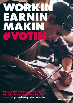 This advertisement received negative feedback as it was seen as 'patronising' and an attempt to appeal to younger voters. Eu Referendum, British Referendum, Brexit Eu, My College, Explain Why, Young People, Layout Design, Campaign, Advertising
