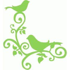 Silhouette Design Store - View Design #76517: bird corner flourish