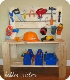 Homemade work bench