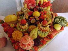 fruit sculpté