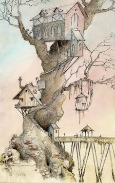 Treehouse colour by GabrielEvans on DeviantArt