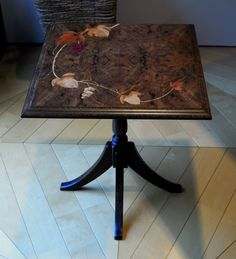 "Grapes marquetry for a side table. Made with ""RENGESO"" Japanese bespoke cabinet makers. www.rengeso.jp/"