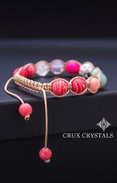 HEARTBEAT Macrame Bracelet Women's Gemstone Bracelet