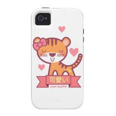 Kawaii Circus Tiger Vibe iPhone 4 Covers