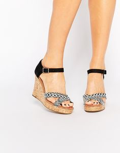 TOMS+Black+&+White+Woven+Wedge+Sandals