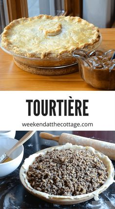 Tourtière - Weekend at the Cottage La Tourtiere, Baked Vegetables, Pork Tenderloin Recipes, Food For A Crowd, One Pot Meals, Christmas Baking, Brunch Recipes, Holiday Recipes, Food And Drink