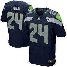 Mens Seattle Seahawks Marshawn Lynch Nike College Navy Elite Jersey c81200709
