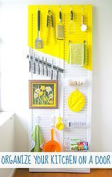 """Organizing your kitchen- could totally use shutters for a """"command center"""" wall area also."""