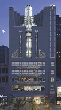The Art Institute of Philadelphia, 1622 Chestnut Street is a stunning Art Deco building.