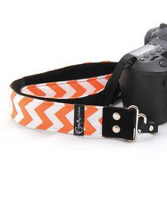 Another great find on #zulily! Orange Chevron Camera Strap #zulilyfinds