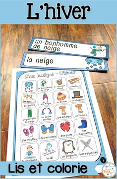 Pages d'étiquettes pour le mur de mots et lexiques. French Winter Word Wall vocabulary ideal for French Immersion students. French Teaching Resources, Teaching French, Teacher Resources, Teacher Pay Teachers, Bilingual Classroom, French Stuff, Core French, French Classroom, Teacher Boards