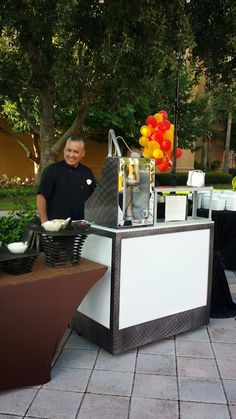 Portable nitrogen ice cream cart -safety enclosure perfect for catering outdoor events. www.nitrocrafter.com