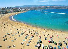 Spain, Canarias, Gran Canaria, Las Palmas, Las Canteras Beach