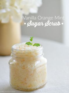 Homemade Orange Mint Sugar Scrub Homemade Sugar Scrubs are the perfect way to pamper yourself or someone else. These DIY beauty products make you feel like you spent a day at the spa at a fraction of the cost! Most are made with coconut oil. Sugar Scrub Homemade, Homemade Vanilla, Homemade Skin Care, Homemade Beauty, Diy Beauty, Homemade Gifts, Beauty Tips, Homemade Things, Beauty Stuff