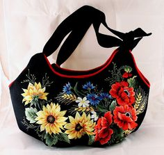 Hand+embroidered+woman+bag+Sunflowers+and+by+Handembroiderykvitka,+$125.00