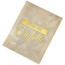 Buy Ginger Ray Ivory & Gold Confetti Envelope Online at johnlewis.com