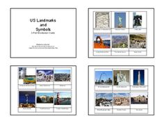 Liesl from The Homeschool Den created these Montessori inspired three part cards of Landmarks of the USA. She has some amazing free printables on her blog so be sure to check her blog out and see her neat work!
