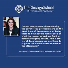 In response to recent violence in Isla Vista, CA Dr.Michele Nealon-Woods, President of The Chicago School of Professional Psychology #TCSPP with programs in international psychology online, has provided her words of guidance and condolences.