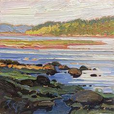 "Daily+Paintworks+-+""Ocean+Light:+6x6+oil+on+panel""+-+Original+Fine+Art+for+Sale+-+©+Ken+Faulks"