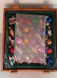 Thomas Pacconi Classics Set 30 Christmas Ornaments Certificate Crate  Sealed Box