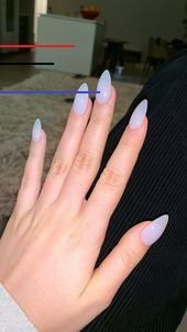 With new nail trends popping up every day, it can be hard to keep up. Luckily, the latest trend in nails isn't a color or type of manicure – it's actually a shape! For lots of women, the shape of their nails is sacred. Acrylic Nails Stiletto, Clear Acrylic Nails, Almond Acrylic Nails, Summer Acrylic Nails, Spring Nails, Subtle Nails, Soft Nails, My Nails, Claw Nails