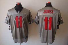 Nike Atlanta Falcons #11 Julio Jones Grey Shadow Men's Stitched NFL Elite Jersey