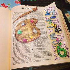 Genesis 1 | 00. Bible Journaling | Pinterest | Journaling, Bible ...