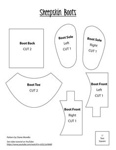 """18"""" doll boot pattern - the directions are on youtube under Diane Morello boot"""