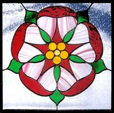 English rose stained glass