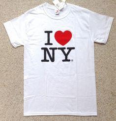 New I LOVE NEW YORK T-SHIRT Classic Heart NY White/Black/Red Unisex Adult SMALL #Gildan #GraphicTee