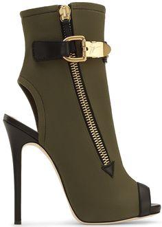 Giuseppe Zanotti Calfskin leather open toe boots ROXIE GjbVO