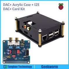 DAC+ Acrylic Case and I2S Interface PCM5122 PiFi DIGI DAC+ HIFI IGI Digital Audio Decoder Raspberry PI 3 Model B/2 B Sound Card