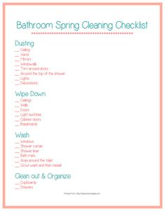 Spring Cleaning the Bathroom!!!