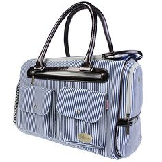 Water  Wood Red Canvas Puppy Doggie Dog Cat Pet Carrier Tote Hand Bag Travel Fashion Stripe Cage Blue * To view further for this item, visit the image link.(This is an Amazon affiliate link and I receive a commission for the sales)