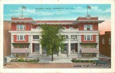 1936 MONMOUTH, ILLINOIS Colonial Hotel E.C. KROPP POSTCARD