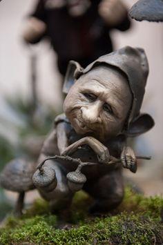 Victoria Chichinadze sculpture en bronze - «Ratman» 22cm