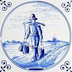 Delfts blauw, tegel