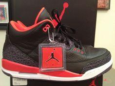 Black & Crimson 3's!
