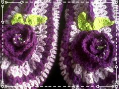 Deep purple and lilac ladies slippers Womens Slippers, Deep Purple, Lilac, Crochet Earrings, Goodies, Passion, Handmade, Sweet Like Candy, Hand Made