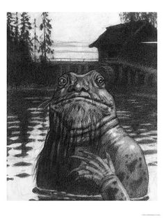 Ivan Bilibin: Vodyanoi the Water Sprite, 1934