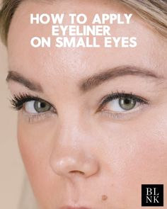 How to Apply Eyeliner on Small Eyes - 12 makeup Videos for teens ideas How To Apply Eyeliner, Small Eyes Makeup, Eyeliner For Small Eyes, Eyeliner Types, Eyeliner Hacks, Beauty Hacks Video, Beauty Tips, Daily Beauty, Beauty Ideas