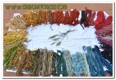 Tintura naturale della lana. Natural dyeing wool.